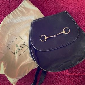 Gucci vintage saddle bag